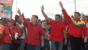 El candidato por la lista del PSUV, Francisco Arias Cárdenas, en el municipio Rosario de Perijá