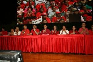 Viepresidente Psuv occidente Com. Fransisco Arias Cardenas y miembros de la dirección regional Psuv Zulia